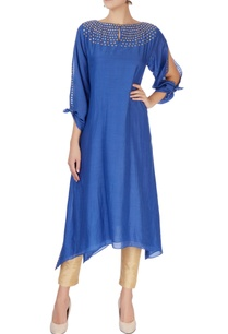 blue-double-layered-kurta