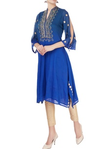 blue-gota-embroidered-kurta