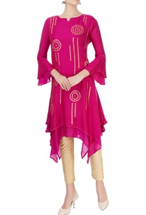 pink-double-layered-gota-kurta