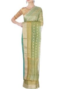 light-green-brocade-sari-blouse