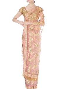 pink-gold-sequin-sari-blouse
