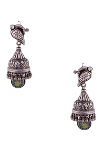 silver-peacock-crafted-jhumkas