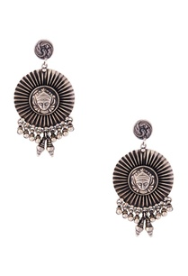 silver-durga-motif-earrings