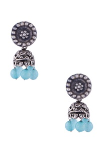 silver-glass-bead-jhumkas