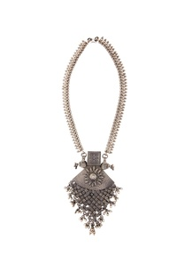 silver-tribal-statement-necklace