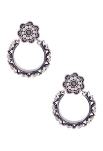 silver-floral-bail-earrings