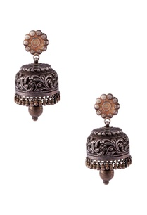 silver-dome-shaped-jhumkas