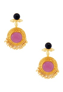 gold-plated-mixed-stone-earrings