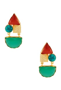 gold-plated-earrings-with-natural-stones