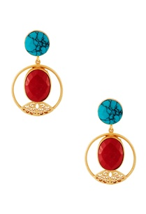 gold-plated-natural-stone-earrings