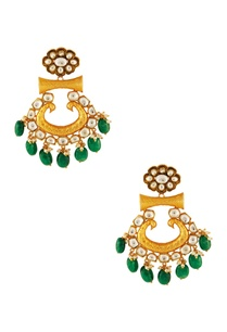 gold-green-kundan-earrings