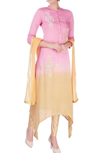pink-beige-ombre-kurta-sets