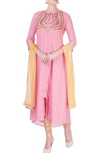 pink-kurta-with-zipper-detail-set