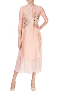 peach-kurta-with-sequin-embroidery
