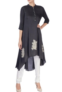 black-kurta-with-applique-embroidery