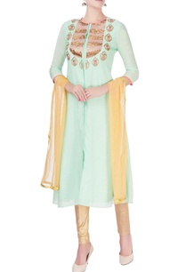 light-green-embellished-kurta-set