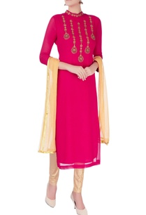 pink-kurta-with-bead-embellishments-set
