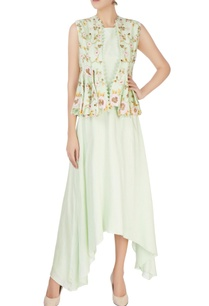 light-green-peplum-jacket-dress