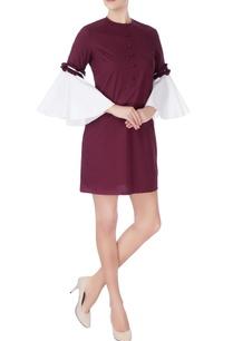 purple-white-midi-dress