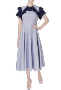 blue-layered-retro-dress