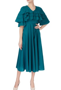 teal-blue-double-tired-dress