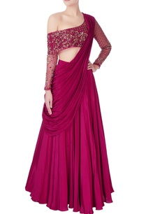 hand-embroidered-organza-blouse-with-lehenga-set