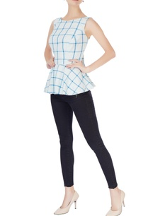 blue-white-check-blouse