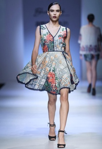 multicolored-printed-belt-dress