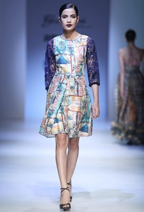multicolored-printed-dress-with-net