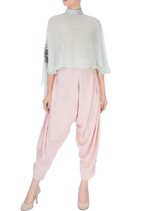 mint-embellished-cape-dhoti-pants