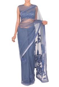 blue-applique-work-sari