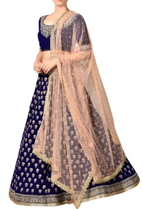 royal-blue-lehenga-set