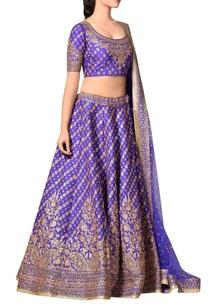 royal-blue-embroidered-lehenga-set