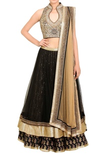 black-gold-embellished-lehenga-set