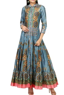 grey-printed-anarkali-kurta