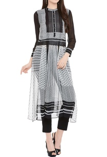 black-white-printed-kurta