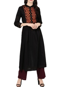 black-a-line-kurta-with-embroidery