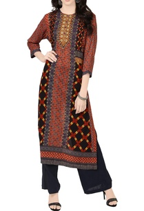 multicolored-vibrant-print-long-kurta
