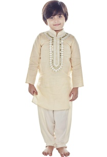beige-mirror-work-kurta