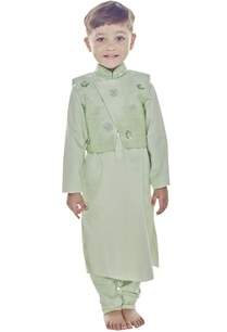 mint-green-kurta-overlapped-jacket