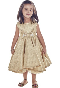 gold-beige-sequin-embroidered-dress