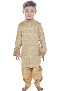 gold-brocade-sherwani-with-embroidered-collar
