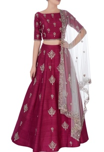 wine-embroidered-lehenga-blouse