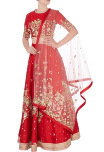 red-sequin-embroidered-lehenga