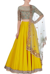 yellow-embroidered-lehenga