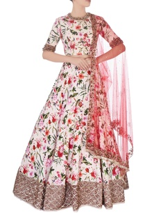 multicolored-floral-print-lehenga