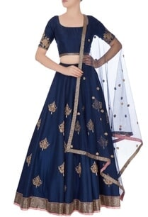 navy-blue-embroidered-lehenga