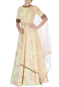 light-yellow-quilted-dupion-anarkali