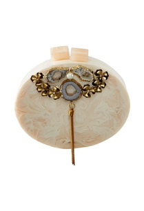 beige-acrylic-oval-shaped-clutch