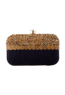 black-artistic-fabric-box-clutch